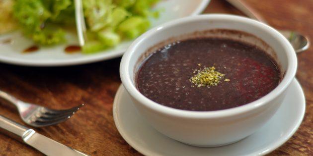 Суп из фасоли с соевым соусом: простой рецепт
