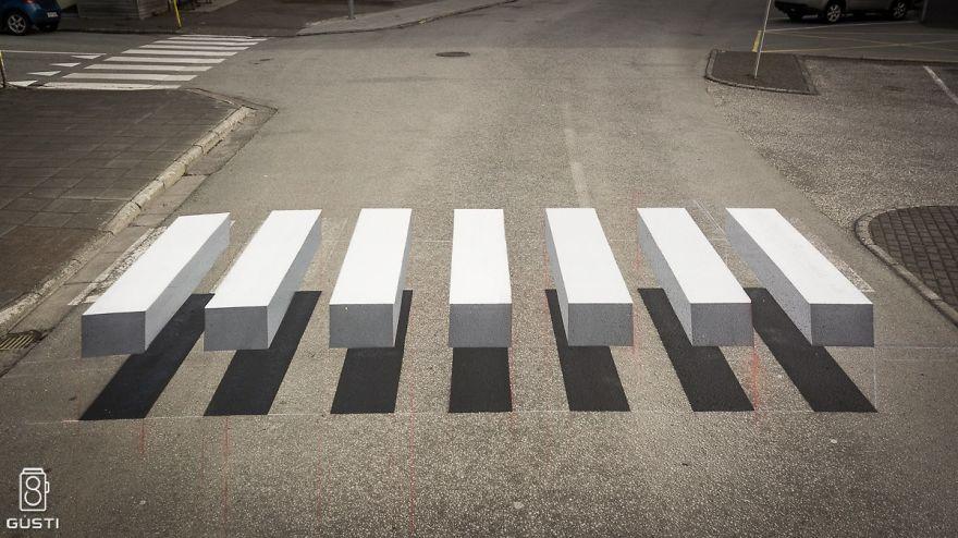 Не упасть с пешеходного перехода