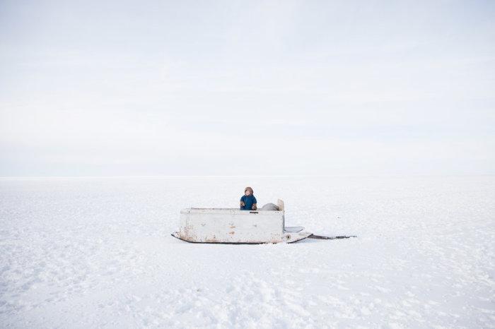 Ребёнок из ненецкой семьи Серотетто, на полуострове Ямал, Сибирь, Россия. Автор фотографии: Одид Вагенштайн.