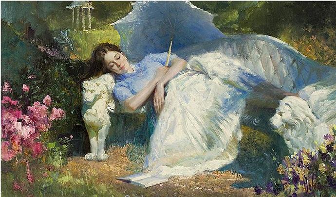 Сон в саду. Автор: Владимир Волегов.