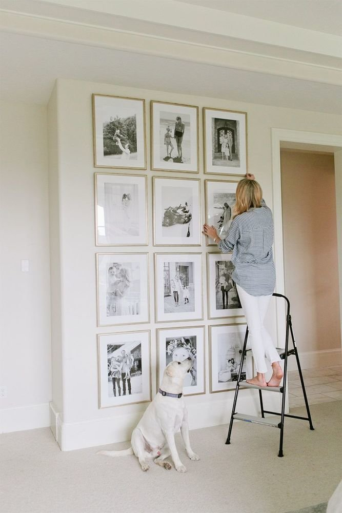 Фотография: в стиле , Советы, Картины, настеннный декор, как развесить картины в гостиной – фото на InMyRoom.ru