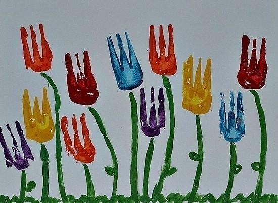 Рисование вилкой. Детям понравится!
