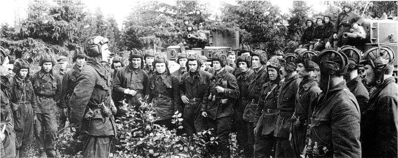 Полит. информация перед боем, для танкистов 3-ей Танковой Дивизии. июль 1941 г. #Фотографии, #история, #факты, .война
