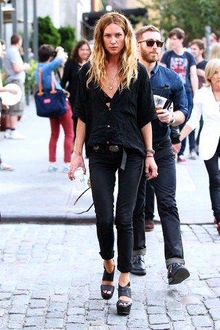 Черные блузки и рубашки с чем носить фото 3