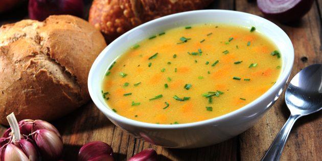 Суп с фасолью и овощами: простой рецепт
