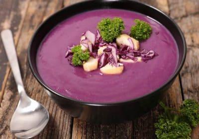 Крем-суп из краснокочанной капусты