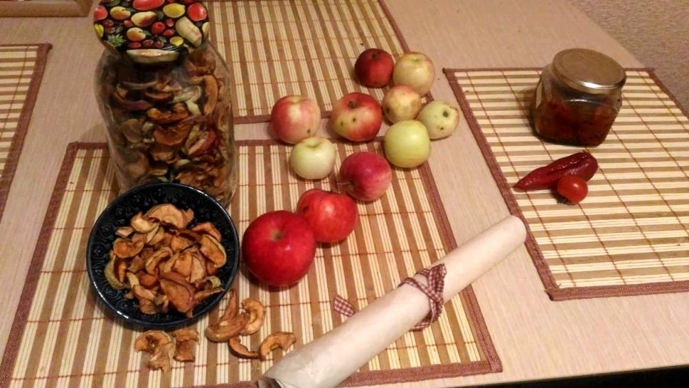 Сушеные яблоки в дегидраторе будут готовы за 4-5 часов.