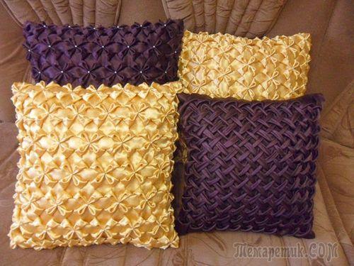 Мастер-класс как изготовить диванные подушки своими руками