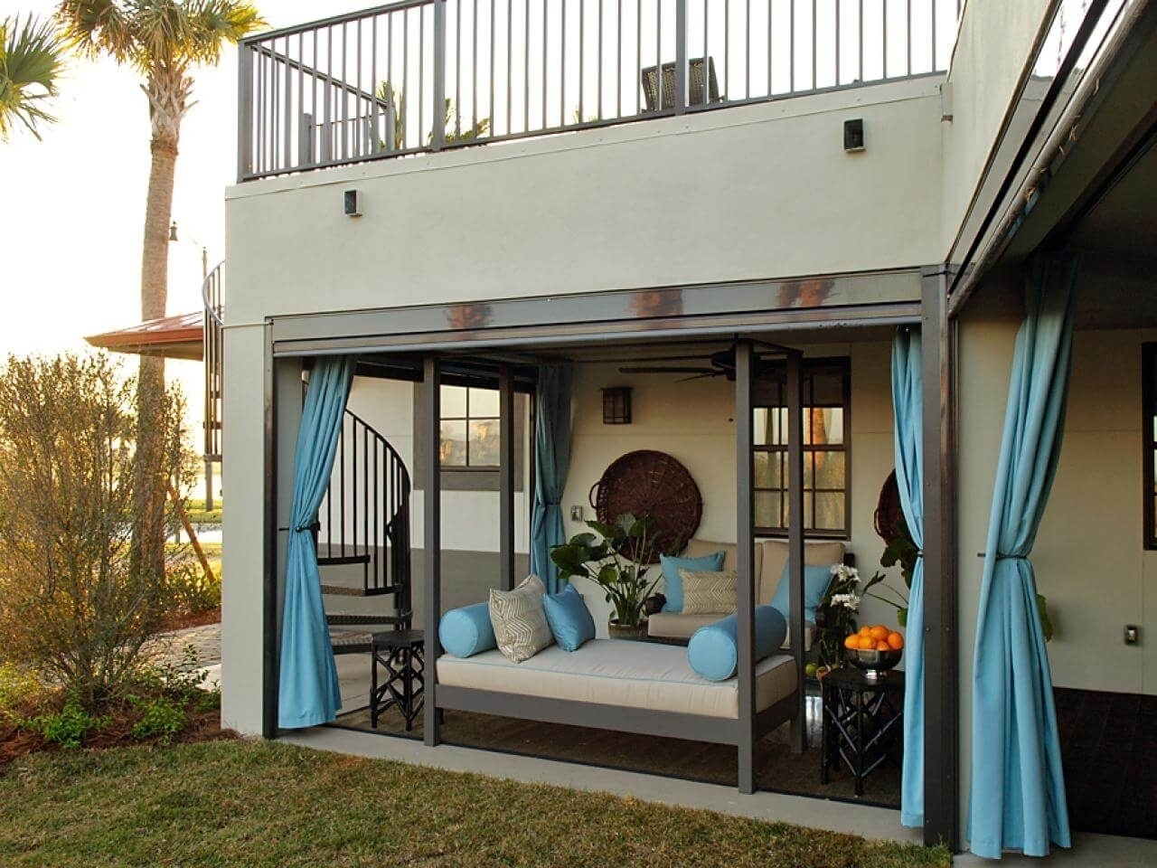 Вешаем стильные шторы на веранде дача,идеи для дачи,сад и огород
