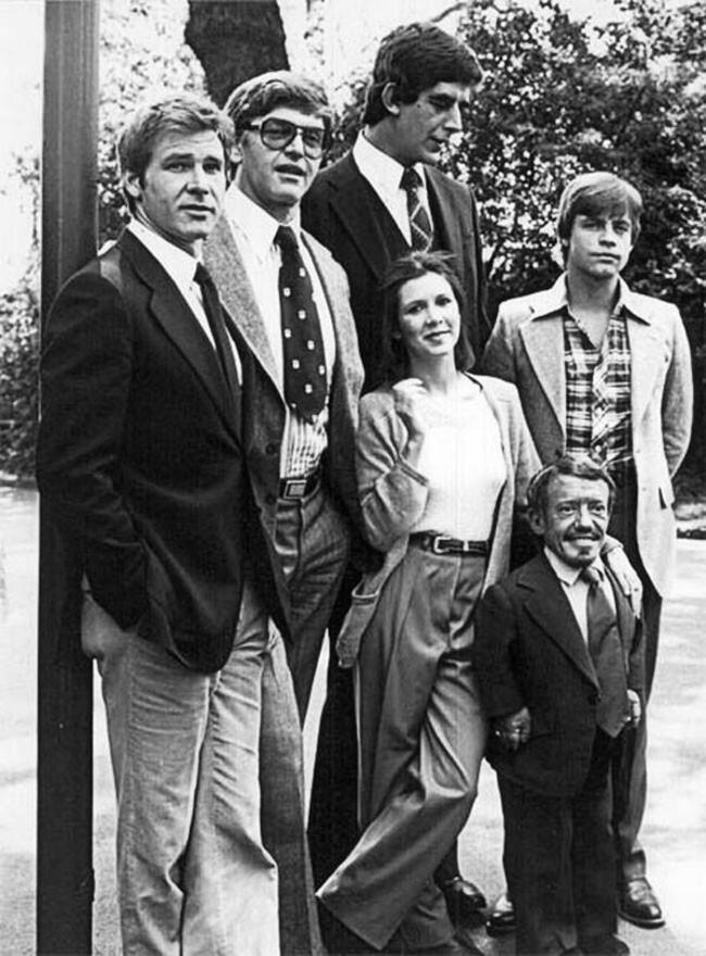 Актеры фильма «Звездные войны» прямо перед началом съемок