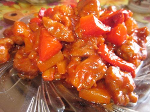 Свинина с ананасами по китайским мотивам