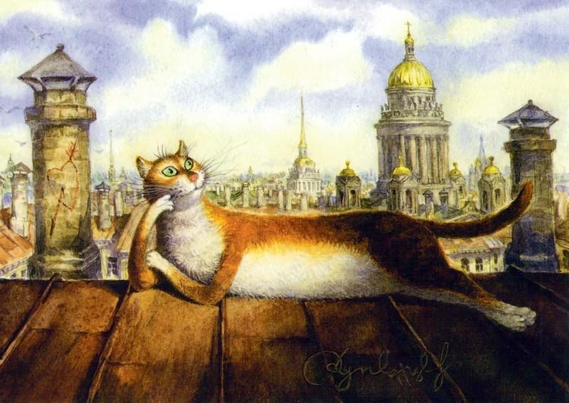 Картинки с питерскими котами, фото