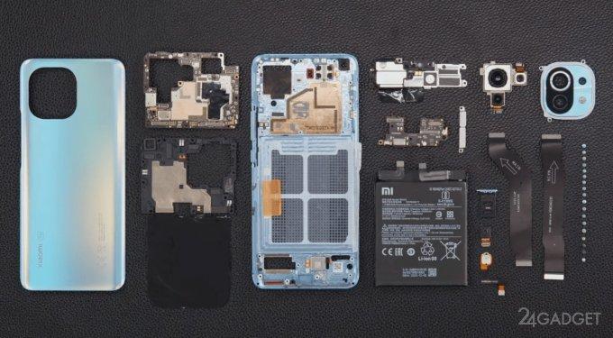 Представлено официальное видео разборки Xiaomi Mi 11, а Зак Нильсон проверил смартфон на прочность