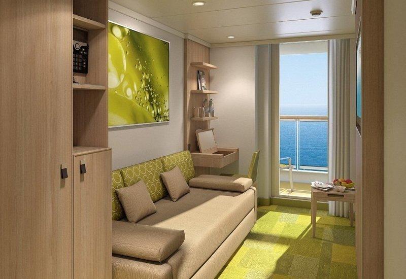 Одна из кабин лайнера AIDAnova, carnival, ynews, германия, корабль, лайнер, мир, новости