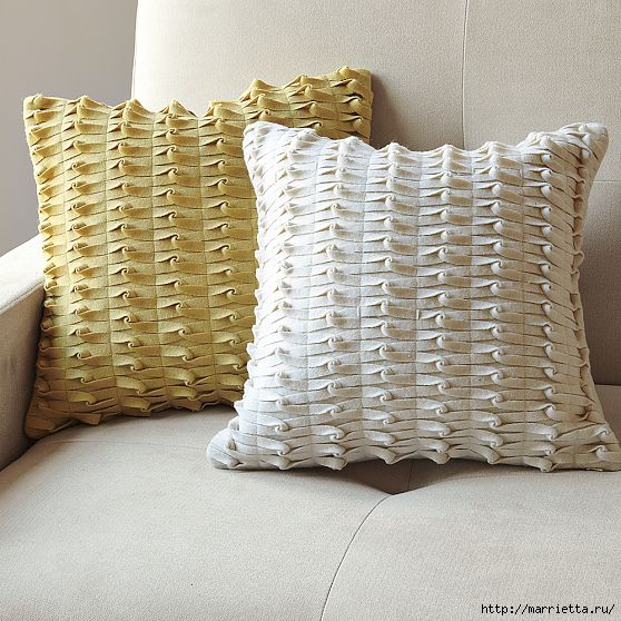 knotted felt pillow west selm (558x558, 213Kb)