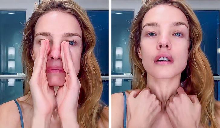 5 минут в день — японский массаж, избавляющий от морщин и отеков (его делает Наталья Водянова)