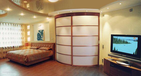 радиусные раздвижные двери для гардеробной, фото 26