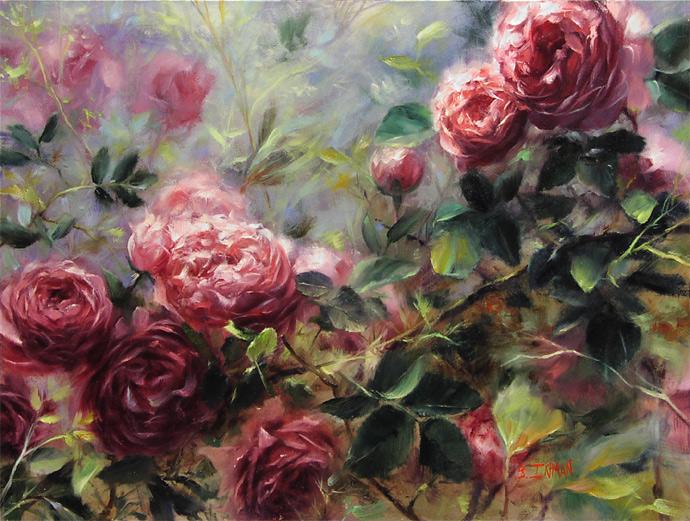 Вдохновлённый розами...Художник Bill Inmann