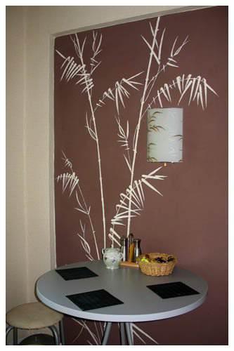 Роспись стены с нишей на кухне самостоятельно дизайн,кухня,ремонт,роспись стен