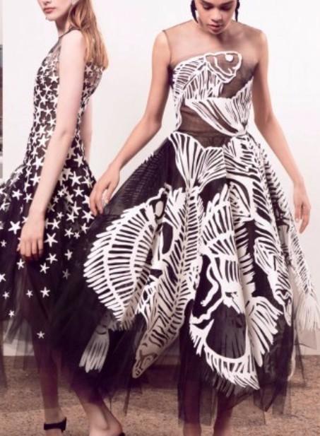 Хоть сейчас на бал — стильные платья из коллекции Oscar de la Renta pre-fall 2018