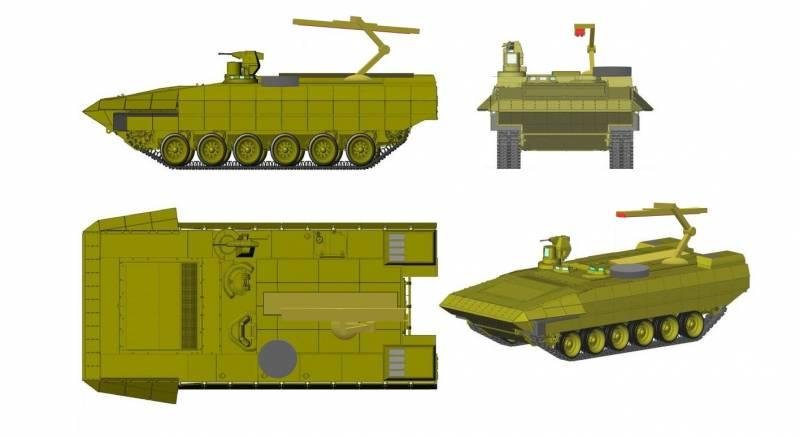 Т-17. Многофункциональный ракетный танк на базе платформы «Армата»  оружие