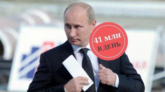 В России на одного пенсионера тратят 442 рубля в день, а на Путина — 41 млн