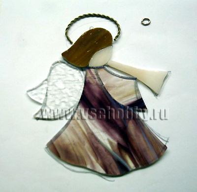 Витражный ангел в стиле Тиффани витраж,стекло,хенд мейд