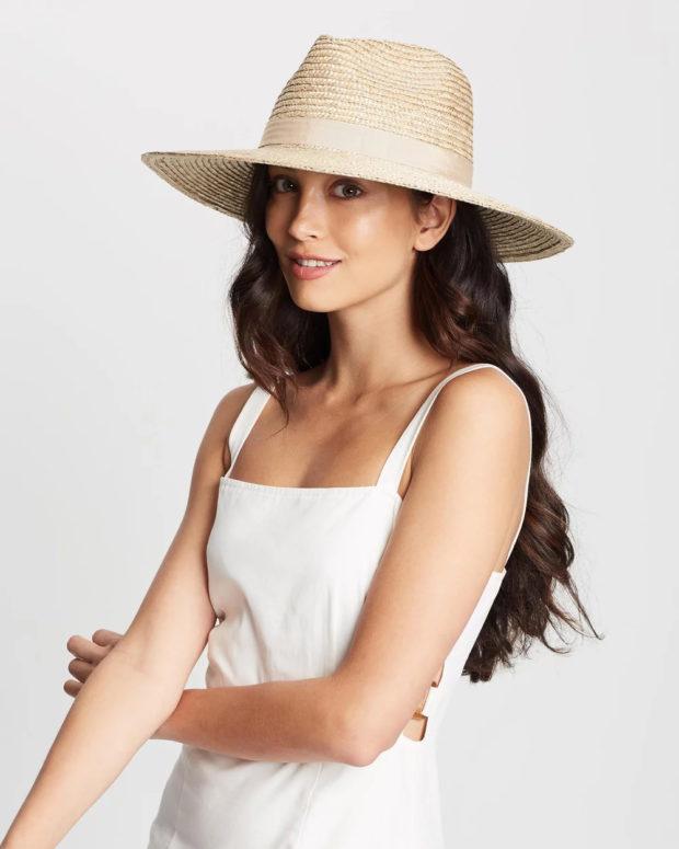 Модные головные уборы весна лето 2019: соломенная шапка