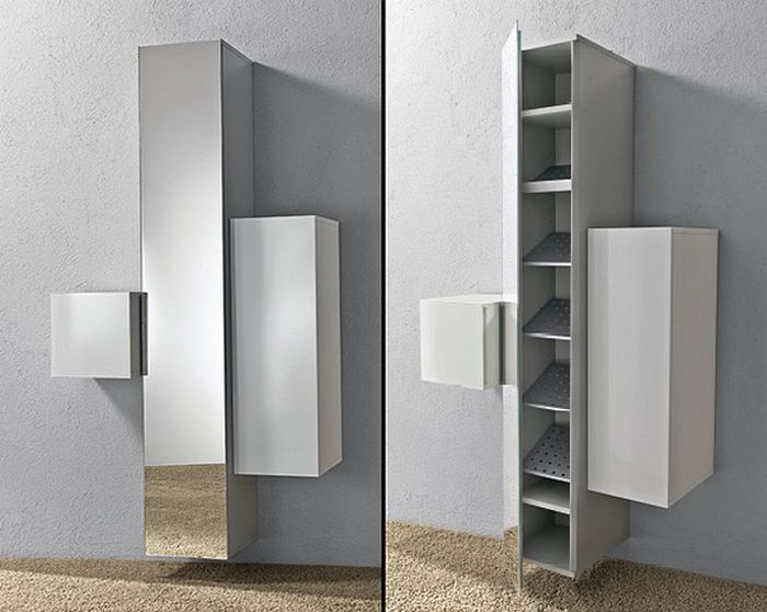 Шкаф позволяет скрыть обувь от посторонних глаз, сэкономить площадь и создать уютную обстановку
