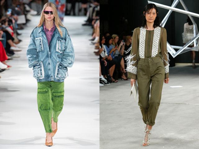 Модные цветные джинсы 2018