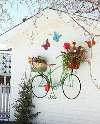 Велосипедное кашпо