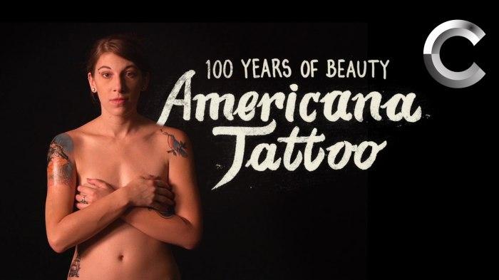 Новое видео из серии «100 Years of Beauty» («100 лет красоты») демонстрирует эволюцию американских татуировок за последнее столетие.
