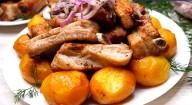 Вкуснейшая золотистая картошечка с мясом: попробовав раз это блюдо, будете готовить его всегда