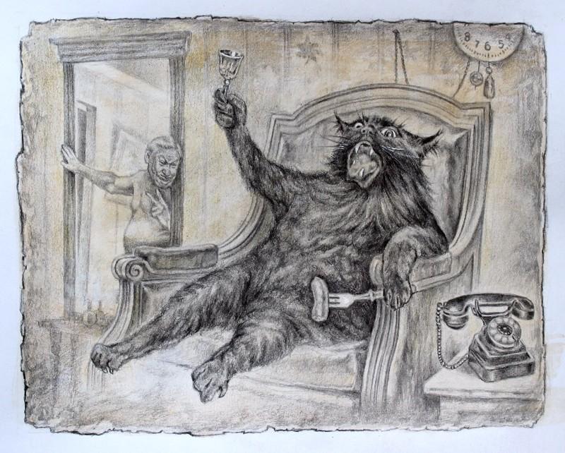"""Иллюстрации к """"Мастеру и Маргарите"""" и другие рисунки карандашом Александра Ботвинова"""