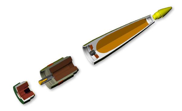 Примерное устройство снарядов V-LAP