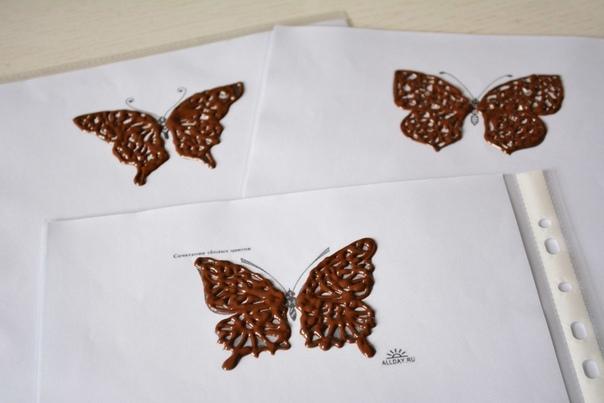 Как сделать шоколадных бабочек