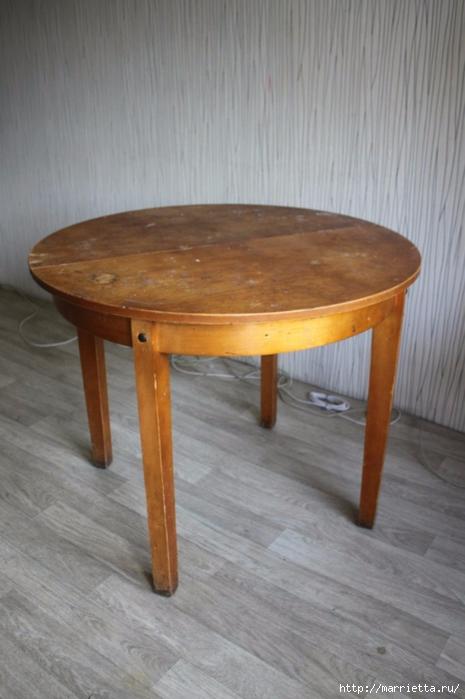 Картинки по запросу Винтажная переделка старого стола в стиле шебби-шик