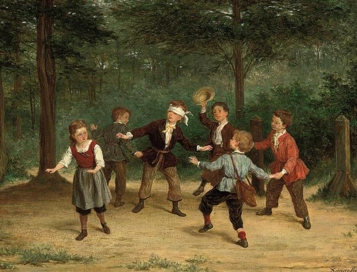 Андре Анри Даргелас (француз, 1828 - 1906) «Blindmans Buff».