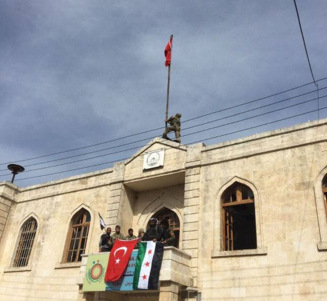Над Африном поднят турецкий флаг