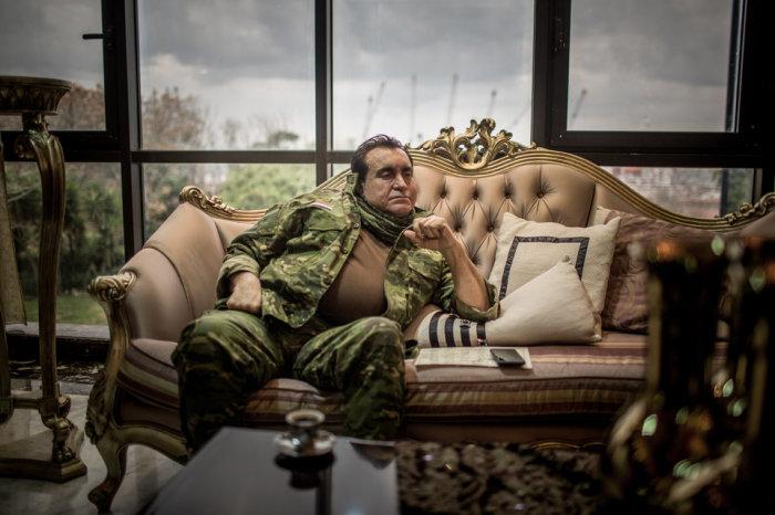 Мохаммад Джабер, могущественный военачальник Сирии, генерал и основатель ополченцев пустыни Хокс, базирующихся в Латакии. Автор фотографии: Кристиан Вернер.