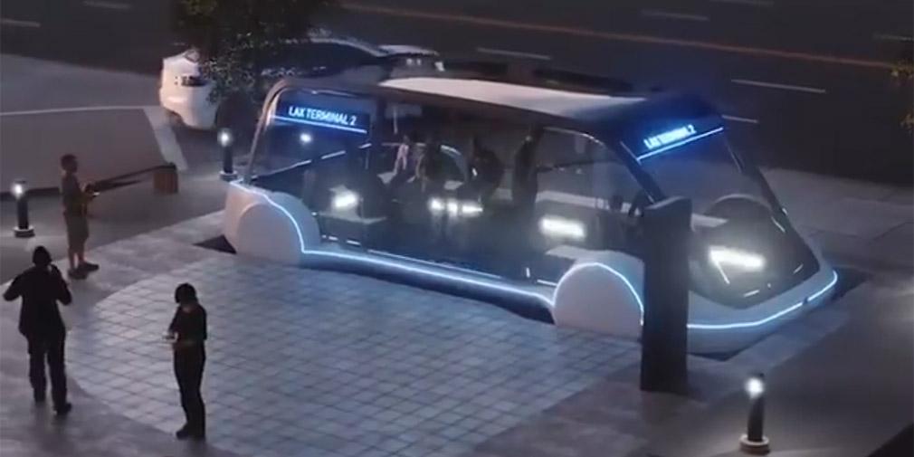 Илон Маск показал подземный электробус