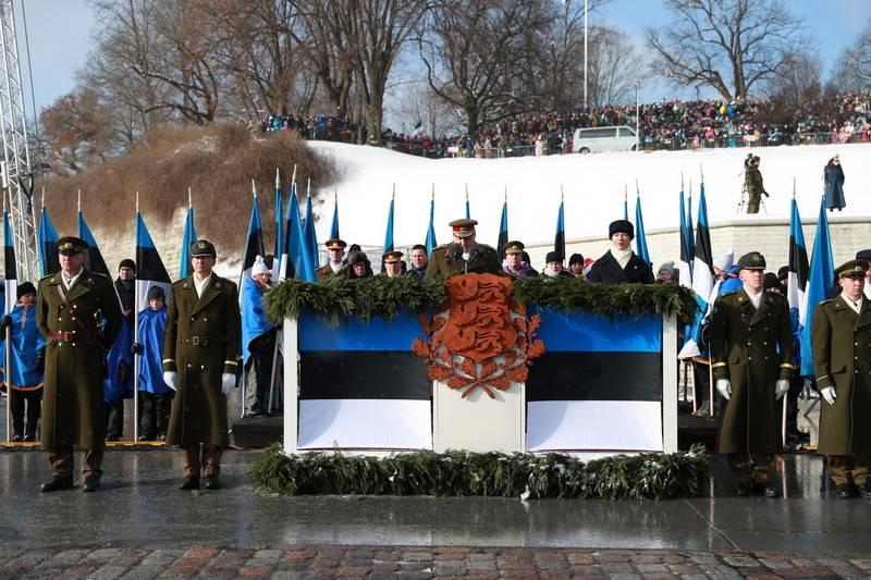 В Таллине прошел парад Сил обороны Эстонии