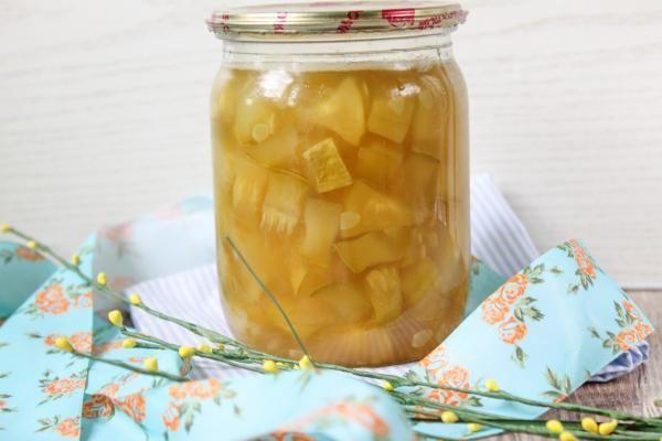 Консервированные кабачки вананасовом сиропе
