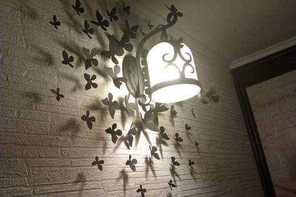Интересные идеи для дома своими руками - фото самодельного светильника на стену