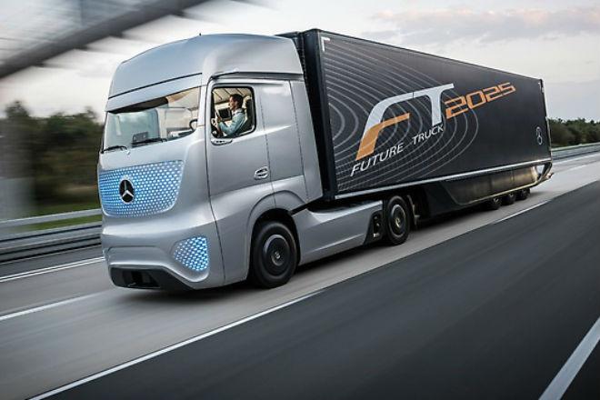 Поразительные грузовики будущего грузовики