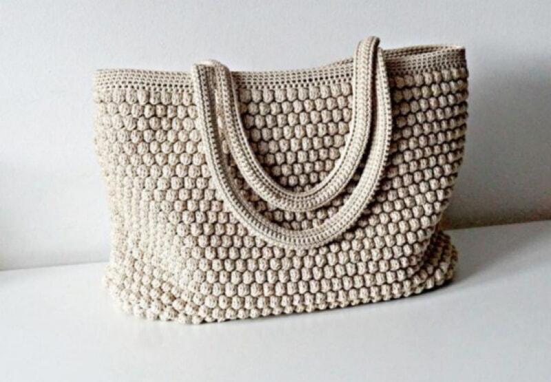 Красивая сумка на лето, связанная крючком. Простые схемы вязание,женские хобби,поделки,рукоделие,своими руками,сумка
