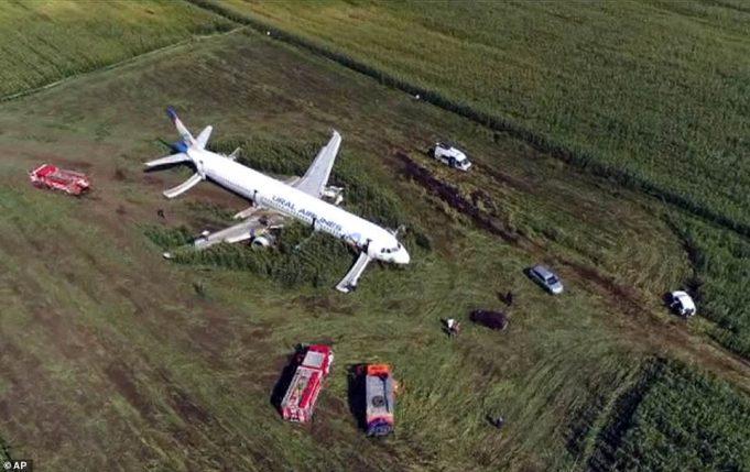 Аварийное приземление пассажирского самолета А321 в фотографиях
