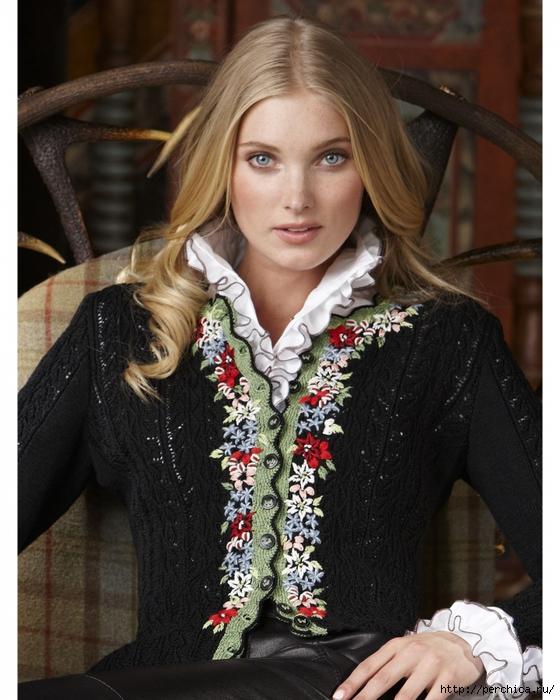 Вышивка на вязаном полотне - идеи, советы и схемы вышивки