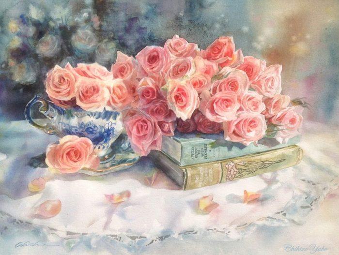 Нежная сказка цветов... Аква…