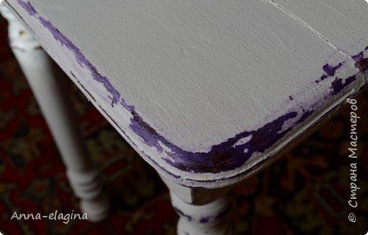 Винтажная переделка старого стола в стиле шебби-шик 4